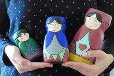 DIY: Matrioskas reciclando frascos de vidrio