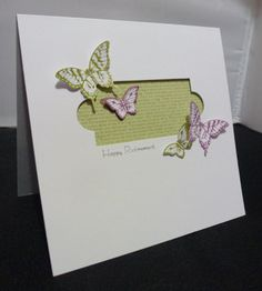SU!  Papillon Potpourri stamp set; colors are Old Olive and Rich Razzleberry - Lizy Bartaby
