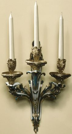 Pair of Sèvres Soft-paste Porcelain Wall Lights, French, ca. 1761