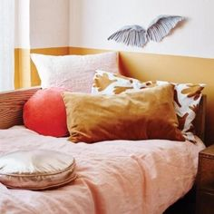 Baby Blanket 55 CM X 75 cm//oreiller 25 cm x 35 cm Rose-Hirondelle