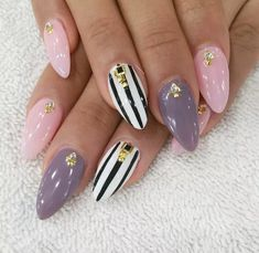 Amazing Fancy Nail Art Design 2017 - style you is the time to get in some new touch this summer. Try some fancy nail designs and get the right feelings in your dear friend's heart. Leave the old and traditional formal nail designs of single colour. Fancy Nails Designs, Fancy Nail Art, Simple Nail Art Designs, Best Nail Art Designs, Cool Nail Art, Acrylic Nail Designs, Acrylic Nails, Simple Gel Nails, Short Gel Nails