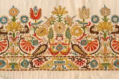 Greek folk art embroidery, combining influences from both east and west. Folk Embroidery, Cross Stitch Embroidery, Border Embroidery, Motifs Textiles, Scandinavian Folk Art, Pub, Greek Art, Embroidery Techniques, Fabric Art