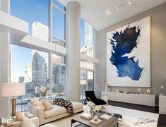 Home Decoration Living Room Modern Home Interior Design, Interior Architecture, Luxury Apartments, Luxury Homes, Exterior Design, Interior And Exterior, Home And Living, Living Room, Living Spaces