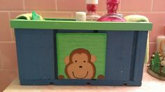 Monkey box for the kids bathroom.  Created with leftover T-111. - 2006
