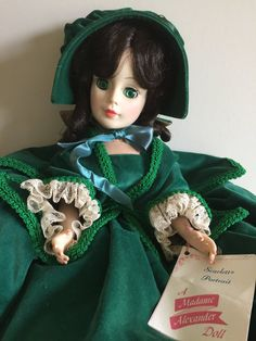Madame Alexander Doll Scarlett O'Hara, Gone with the Wind, Vintage Doll, Collectible Doll