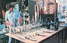 Star Wars - Models used in filming 1977 by Jimmy Tyler, via Flickr