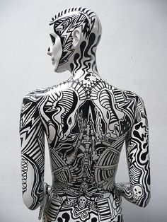 Customised mannequin done for the Wonderland Collective show 'Nothing To Display' at Woburn