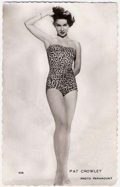 Pat Crowley, leopard swimsuit