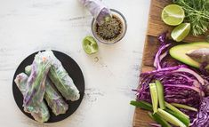For those days your taste buds are craving something fresh and colorful foods, eat the rainbow with these rice paper rolls. Packed with an array of colors, therefore nutrients and a tasty dipping sauce to match. Gf Recipes, Curry Recipes, Raw Food Recipes, Veggie Recipes, Vegetarian Recipes, Cooking Recipes, Healthy Recipes, Healthy Cooking, Healthy Snacks