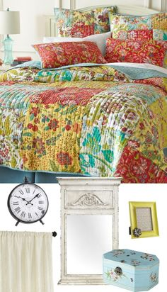 Vintage Romantic: Go for shabby chic with patchwork quilting and vintage accents