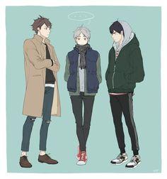 Oikawa Tooru, Sugawara Koshi & Kageyama Tobio~
