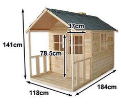Outdoor Playhouse Wooden... Kaycee wants this only taller