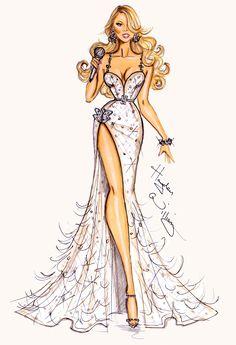 Hayden Williams Fashion Illustrations | Mariah Carey by Hayden Williams