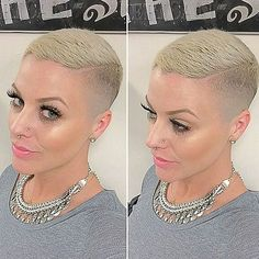Shaved head grow out Edgy Short Hair, Super Short Hair, Short Blonde, Short Hair Cuts For Women, Short Hair Styles, Short Shaved Hairstyles, Girls Short Haircuts, Short Hairstyles For Women, Shaved Hair Women
