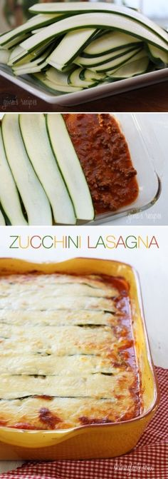 Gluten Free Low Carb Zucchini Lasagna Recipe By Picture Zucchini Pasta Lasagna by diyforever