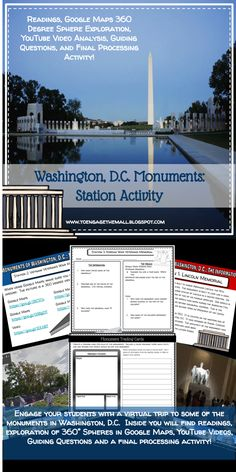 Washington, D.C. Monuments Station Activities using Readings, Google Maps, and YouTube