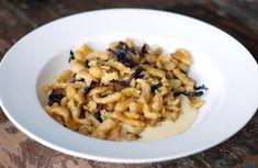 Spätzle-style Passatelli with Radicchio, on Cheese Fondue