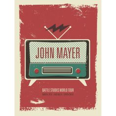 anoter good stamp idea (plus I LOVE JM lol) Posters Diy, Band Posters, Cool Posters, John Mayer Poster, John Mayer Tour, Gig Poster, Concert Posters, John Mayer Concert, John Clayton