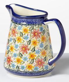 Look at this #zulilyfind! Lace Pitcher by Lidia's Polish Pottery #zulilyfinds