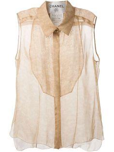 Chanel Vintage Camisa De Encaje Con Estampado Loral - A.n.g.e.l.o Vintage - Farfetch.com