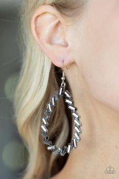 Paparazzi Accessories Striking RESPLENDENCE - Silver Earrings