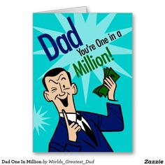 Dad One In Million Greeting Card