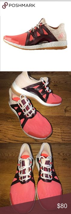 Adidas pure boost expose running shoes coral 7 Amazing adidas pure boost run in shoes. Size ladies 7. Worn twice. Excellent preowned condition. A few minor marks on shoe, please refer to photos. These women's running shoes combine style and performance fo https://twitter.com/ShoesEgminfmn/status/895096209521557504