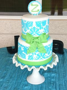 blue and green wedding cakes 2013