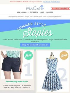 5 fundamental pieces for fun summer looks. - Modcloth