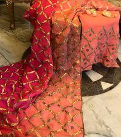 Beautiful combination gotta work four tone dupatta punjabi suit Indian Suits, Punjabi Suits, Salwar Suits, Indian Wear, Pakistani Dresses, Indian Sarees, Indian Dresses, Gota Patti Suits, Fashion Story