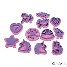Kids can create a legendary work of art with these chunky foam Unicorn Stamps. Dip in paint or ink and create designs including hearts, unicorns, rainbows, ...