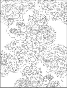 Welcome to Dover Publications Abstract Coloring Pages, Cute Coloring Pages, Flower Coloring Pages, Japanese Patterns, Japanese Design, Creative Haven Coloring Books, Oriental Flowers, Traditional Japanese Art, Matchbox Art