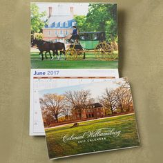 Free 2017 Colonial Williamsburg Calender