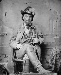 """The guerrillas were 'nicely dressed' and carried 'belts full of pistols.' They were a 'reckless, daring set of men, ready to sell their lives as dearly as possible, knowing they would get no quarter if captured.'"" (fm ""Guerrillas in Civil War Missouri"" p67, by James W. Erwin) Photo Galleries 