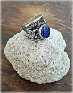 Boho Ring Boho Jewelry Lapis Lazuli Ring by HandcraftedYoga, $25.00
