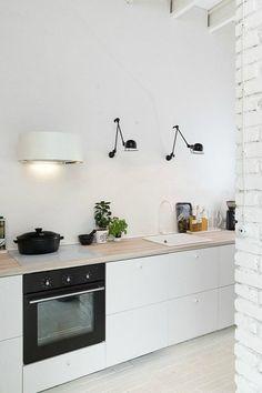 Jielde wandlampen keuken
