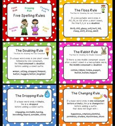I Love 2 Teach: Five Spelling Rules Posters {Freebie} print****** Spelling Help, 2nd Grade Spelling, Spelling Rules, Spelling Activities, Spelling And Grammar, Listening Activities, Grammar Rules, Spelling Ideas, Grammar Skills