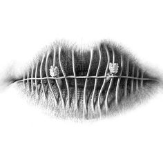 Surreal Pencil Drawings of Lips by Christo Dagorov surreal lips drawing anatomy Sad Drawings, Drawing Sketches, Pencil Drawings, Drawing Ideas, Horse Drawings, Couple Drawings, Amazing Drawings, Beautiful Drawings, Beautiful Images