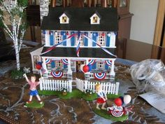 Dept. 56 1776 Liberty Lane Lighted House.  Retired 2005.  Never sold in stores.  RARE! Love this one!