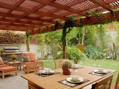Looking to update your outdoor space? Give the most-used area of the yard a purposeful makeover with problem-solving plantings, smart shade solutions and fun ways to keep kids entertained. Kids Outdoor Spaces, Outdoor Rooms, Outdoor Living, Outdoor Decor, Outdoor Patios, Outdoor Furniture, Outdoor Areas, Backyard Patio Designs, Backyard Pergola
