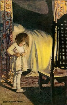 Bed in Summer by Robert Louis Stevenson (1850-1894); Bed in Summer by Jessie Willcox Smith, 1905