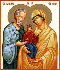 Anna and St. Saint Joachim, Jesus Christus, St Anne, Orthodox Christianity, Hail Mary, Blessed Virgin Mary, Holy Family, Orthodox Icons, Pilgrimage