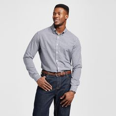 Men's Big & Tall Long Sleeve Button Down Shirt
