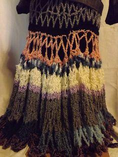 Boho Gypsy Hand Crocheted Skirt.  via Etsy.