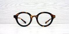 Prototype Yellow Brown Tortoise retro style eyeglasses by Antiqueelse on Etsy