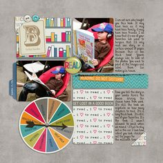 2015 Matthew Reading Richard Scarry digital scrapbook layout by bestcee using products from The Lilypad