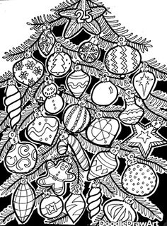 Advent Calendar Printable Coloring Page