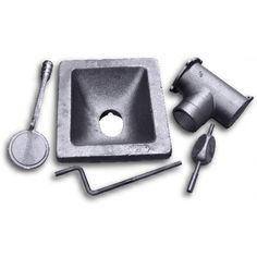 heavy duty, cast iron, Firepot Set, tuyere, clinker breaker, ash dump, forge pot, coal forge, coke forge, blacksmith forge parts