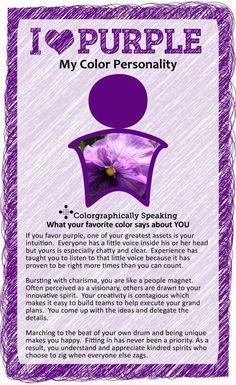 Purple: my tertiary favorite color.