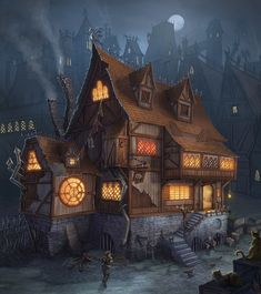 Tagged with art, fantasy, tavern; Shared by Small Fantasy Tavern Dump Fantasy Town, Fantasy House, Fantasy Rpg, Medieval Fantasy, Fantasy World, Fantasy Concept Art, Fantasy Artwork, Medieval Houses, Fantasy Places